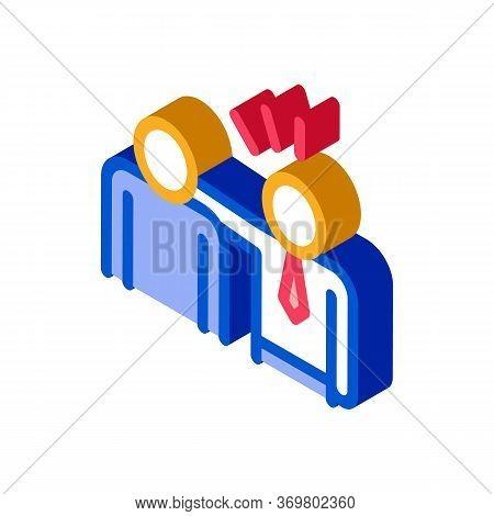 Man Pat Shoulder Icon Vector. Isometric Man Pat Shoulder Isometric Sign. Color Isolated Symbol Illus