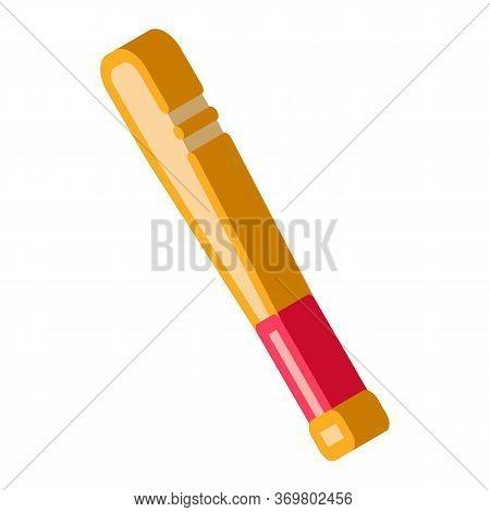 Baseball Bit Icon Vector. Isometric Baseball Bit Isometric Sign. Color Isolated Symbol Illustration