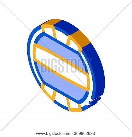 Volleyball Icon Vector. Isometric Volleyball Sign. Color Isolated Symbol Illustration