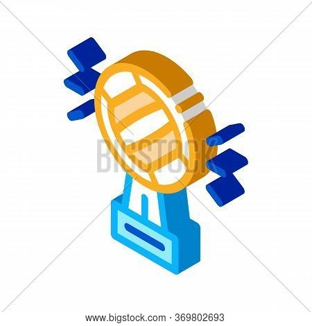 Champion Cup Icon Vector. Isometric Champion Cup Sign. Color Isolated Symbol Illustration
