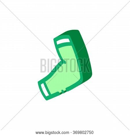 Knee Pad Icon Vector. Isometric Knee Pad Sign. Color Isolated Symbol Illustration