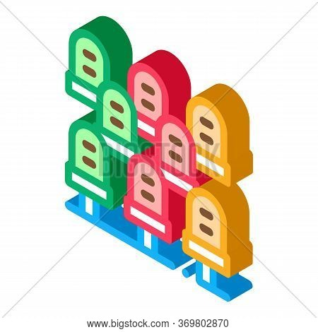 Spectator Seating Icon Vector. Isometric Spectator Seating Sign. Color Isolated Symbol Illustration