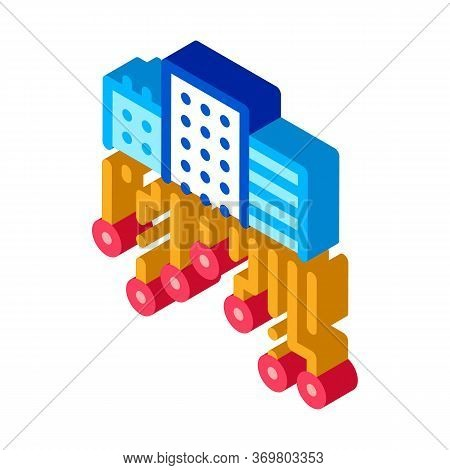 Wi-fi Signal Network Icon Vector. Isometric Wi-fi Signal Network Sign. Color Isolated Symbol Illustr