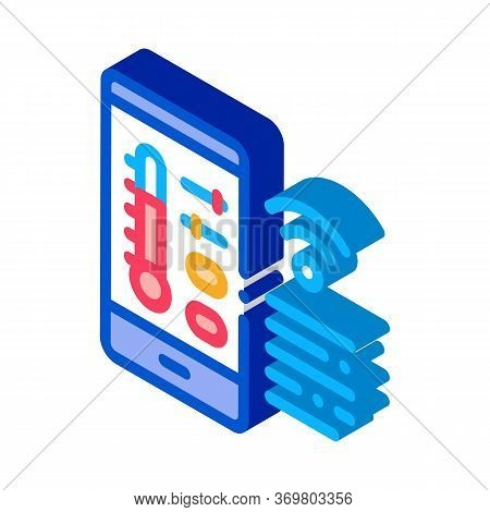 Weather Check W-fi Icon Vector. Isometric Weather Check W-fi Sign. Color Isolated Symbol Illustratio
