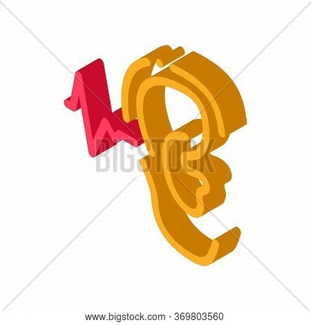 Making Sounds By Ear Icon Vector. Isometric Making Sounds By Ear Sign. Color Isolated Symbol Illustr