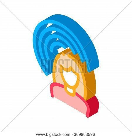 Female Hearing Icon Vector. Isometric Female Hearing Sign. Color Isolated Symbol Illustration