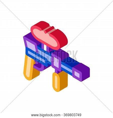 Paintball Gun Icon Vector. Isometric Paintball Gun Sign. Color Isolated Symbol Illustration