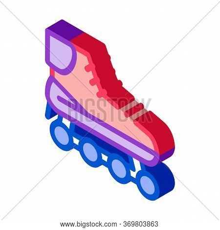 Rollers Icon Vector. Isometric Rollers Sign. Color Isolated Symbol Illustration
