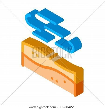 Desert Wind Icon Vector. Isometric Desert Wind Sign. Color Isolated Symbol Illustration