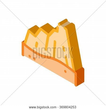 Desert Mountain Icon Vector. Isometric Desert Mountain Sign. Color Isolated Symbol Illustration