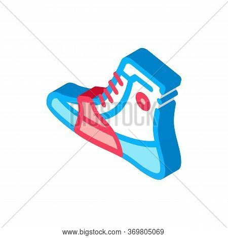 Boxing Shoes Sneakers Icon Vector. Isometric Boxing Shoes Sneakers Sign. Color Isolated Symbol Illus