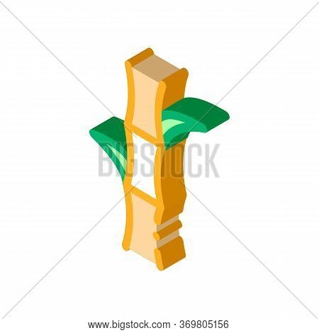 Sugar Cane Icon Vector. Isometric Sugar Cane Sign. Color Isolated Symbol Illustration