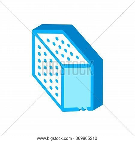 Refined Cube Icon Vector. Isometric Refined Cube Sign. Color Isolated Symbol Illustration