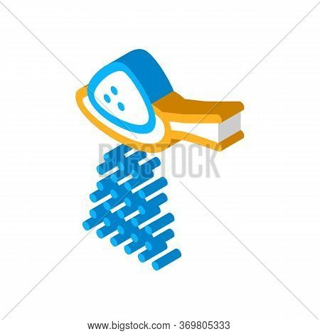 Spoon Of Sugar Icon Vector. Isometric Spoon Of Sugar Sign. Color Isolated Symbol Illustration