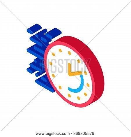 Time Expiration Icon Vector. Isometric Time Expiration Sign. Color Isolated Symbol Illustration