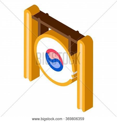 South Korea Gong Icon Vector. Isometric South Korea Gong Sign. Color Isolated Symbol Illustration
