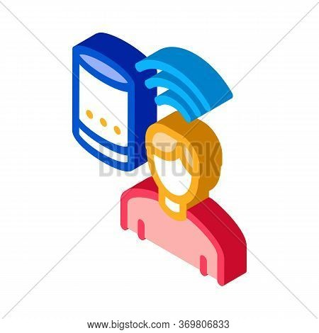 Voice Control Icon Vector. Isometric Voice Control Sign. Color Isolated Symbol Illustration