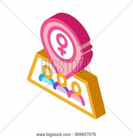 Gps Mark Location Icon Vector. Isometric Gps Mark Location Sign. Color Isolated Symbol Illustration