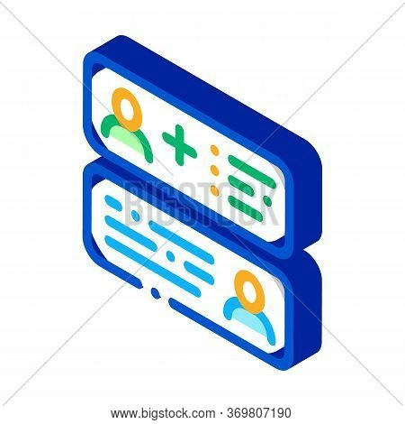Correspondence Icon Vector. Isometric Correspondence Sign. Color Isolated Symbol Illustration