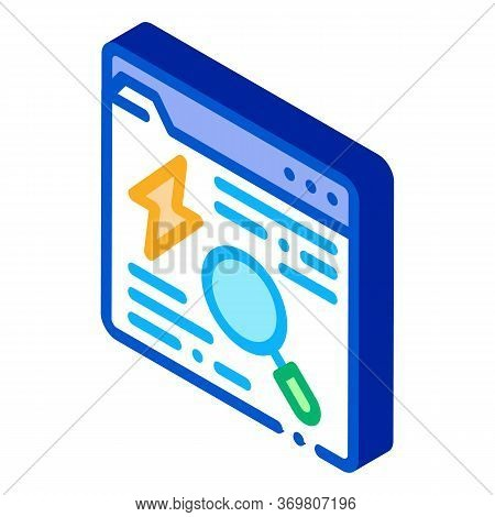 Search Web Info Icon Vector. Isometric Search Web Info Sign. Color Isolated Symbol Illustration