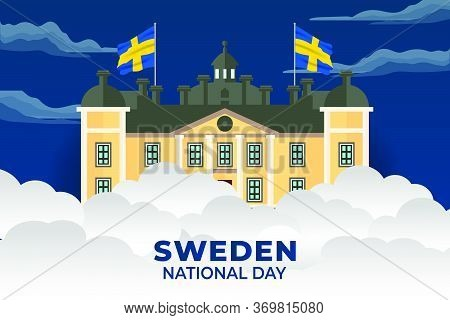 Sweden National Day. Celebrated Annually On June 6 In Sweden. Happy National Holiday Of Freedom. Swe