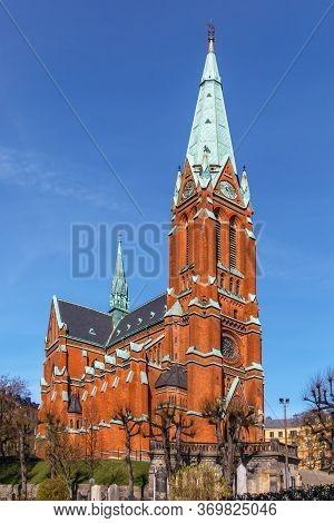 St. Johannes Church Was Built In 1890 In Central Stockholm, Sweden