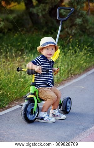First Bike For Toddler Boy In The Park