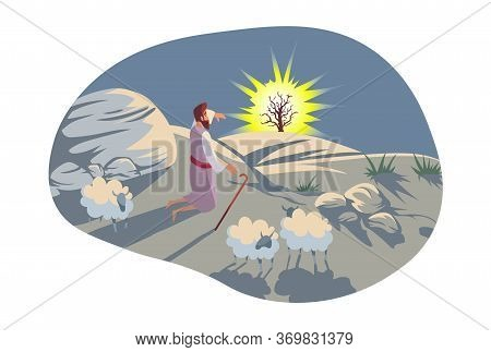 Christianity, Bible, Religion Concept. Old Testament Biblical Genesis Religious Series Illustration.