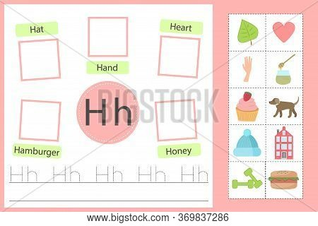 Alphabet Tracing Vector Photo Free Trial Bigstock - 47+ Writing Letter H Worksheets For Kindergarten Background