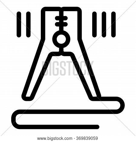Electric Clamp Icon. Outline Electric Clamp Vector Icon For Web Design Isolated On White Background