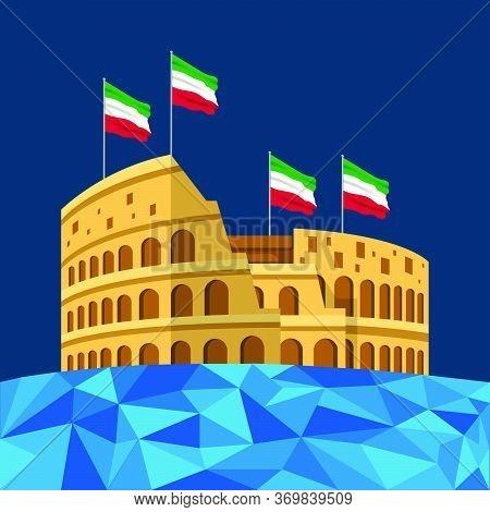 Vector Illustration Of Festa Della Repubblica Italiana. Italian Republic Day.