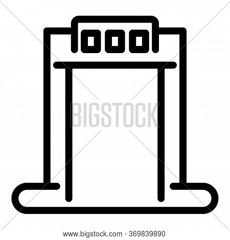 System Metal Detector Icon. Outline System Metal Detector Vector Icon For Web Design Isolated On Whi