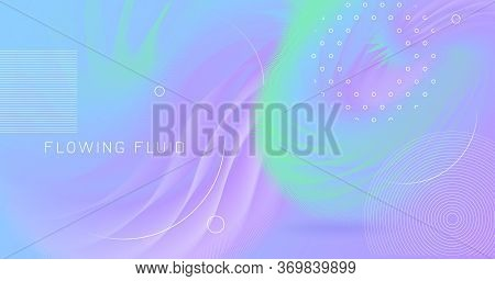 Vibrant Background. Pastel Trendy Cover. Vector Futuristic Concept. Fluid Dynamic Motion. Neon 3d Vi