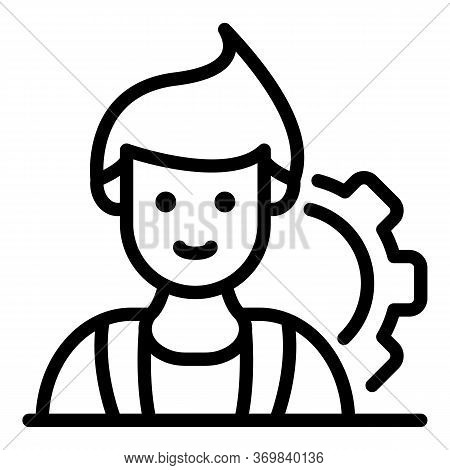 Radio Engineer Icon. Outline Radio Engineer Vector Icon For Web Design Isolated On White Background