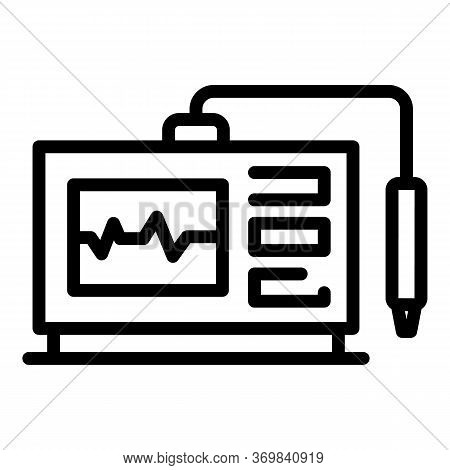 Frequency Radio Device Icon. Outline Frequency Radio Device Vector Icon For Web Design Isolated On W