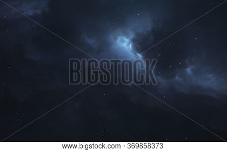 Blue Art Of Space. Elements Of This Image Furnished By Nasa