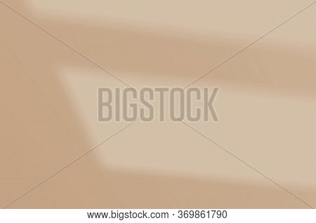 Wall Shade On A White Wall. Abstract Summer Background Of Shadows For Overlaying A Photo Or Mockup