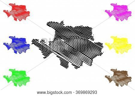 Nis City (republic Of Serbia, Nisava District) Map Vector Illustration, Scribble Sketch City Of Nis
