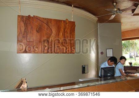 Palawan, Ph - Nov 30 - Reception Counter At Dos Palmas Island Resort On November 30, 2009 In Honda B