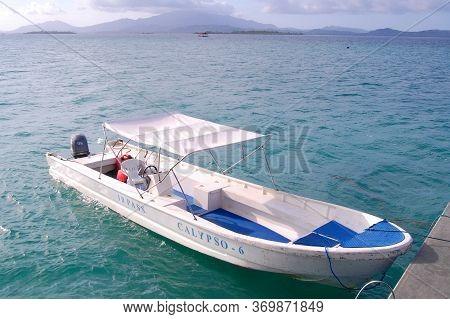 Palawan, Ph - Nov 30 - Speed Boat Docked At Dos Palmas Island Resort On November 30, 2009 In Honda B