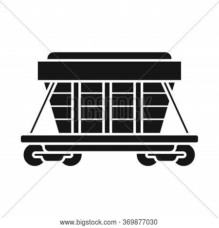 Vector Design Of Wagon And Container Symbol. Graphic Of Wagon And Boxcar Stock Symbol For Web.