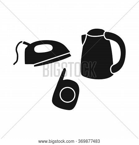 Vector Illustration Of Trash And E-waste Symbol. Graphic Of Trash And Recycle Stock Symbol For Web.