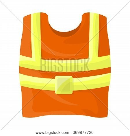 Isolated Object Of Vest And Road Icon. Web Element Of Vest And Uniform Stock Symbol For Web.