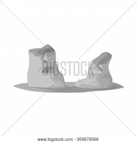 Vector Illustration Of Rock And Bay Sign. Collection Of Rock And Vietnamese Stock Symbol For Web.