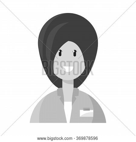 Vector Illustration Of Physician And Girl Symbol. Set Of Physician And Women Vector Icon For Stock.