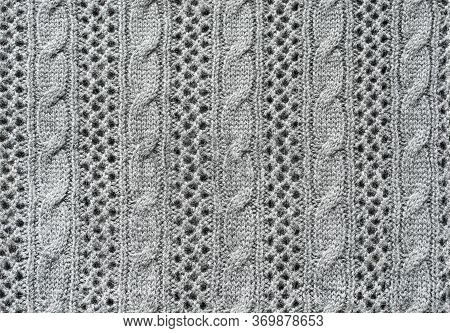 Seamless Grey Wool Knitted Texture As Ab Ackground