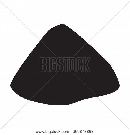 Sand Pile Vector Icon.black Vector Icon Isolated On White Background Sand Pile.