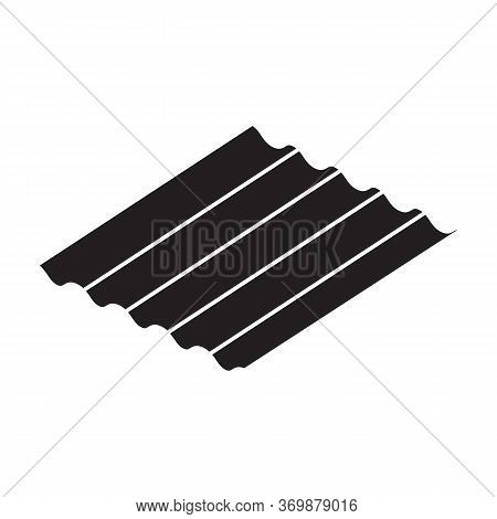 Roof Material Vector Icon.black Vector Icon Isolated On White Background Roof Material.