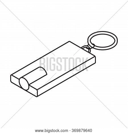 Flashlight Vector Icon.line Vector Icon Isolated On White Background Flashlight.