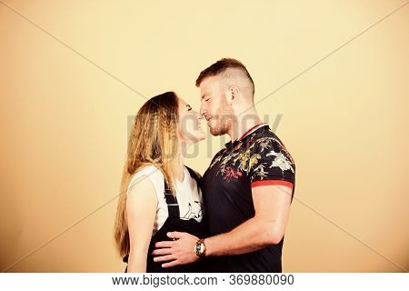 Romantic Kiss. Trust And Support. Cute And Sweet Relationship Is Dream For Every Girl In World. Coup